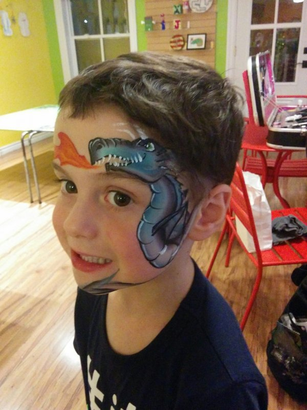 face-painting-dragon